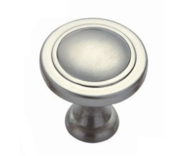 Easy design popular mushroom shape brushed nickel furniture knob