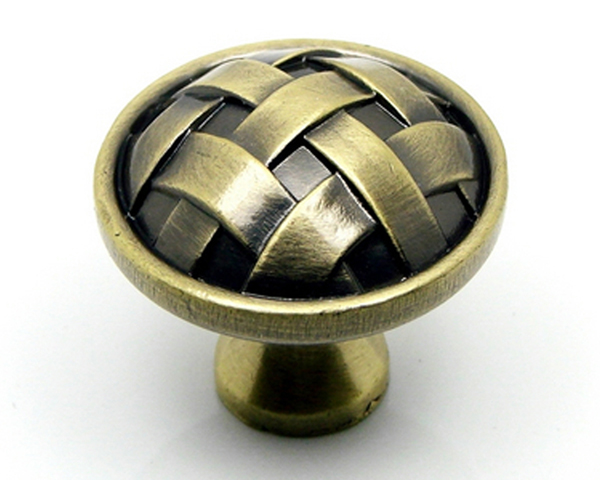 diameter 30mm round antique brass knobs